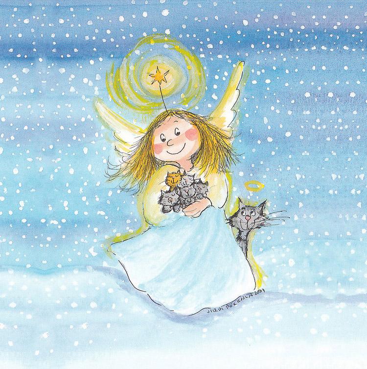 Авторские открытки с ангелами